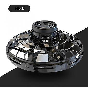 Qian Mini Drone Led Ufo Typ Flying Helicopter Spinner