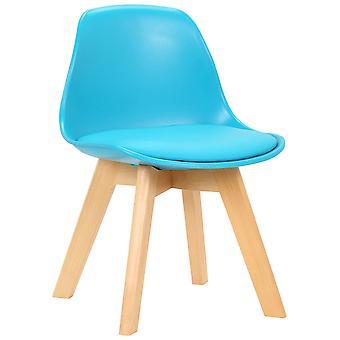 Chaise de salle à manger - Chaises de salle à manger - Chaise de cuisine - Chaise de salle à manger - Moderne - Bleu - Bois - 38 cm x 40 cm x 55 cm