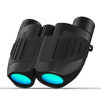 12x25 Compact Binoculars, High Power Binoculars with Super Bright and Wide View, Lightweight Waterproof Easy Focus BAK-4 Binoculars for Bird Watching stargazing Hunting Travel Sightseeing,(black)