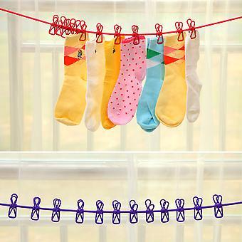 Outdoor winddichte waslijn 12 klem clip sokken ondergoed kleding houder