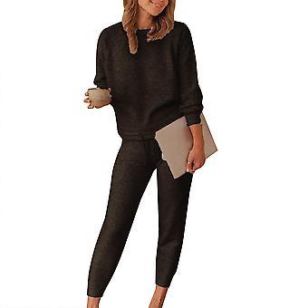 Women Loungewear Set Tracksuit Sweatshirt Pants Sports