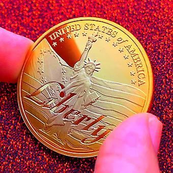 Amerikanische Freiheitsstatue Versilberte Medaille Handwerk Kreative Münzdekoration Münze Goldmünze Gedenkmünze
