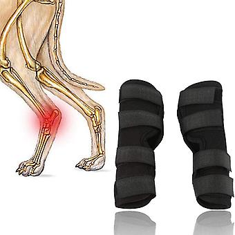 Attelle de jambe de chien, enveloppement de jambe canine de chien Accolade de compression de jambe avant