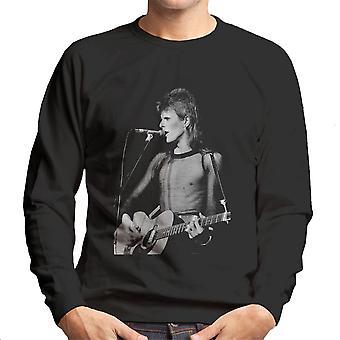 David Bowie Ziggy Stardust Gitarre Hammersmith Odeon 1973 Herren Sweatshirt