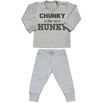 Faul verwöhnt klobig ist Hunky Sweatshirt & Jersey Hose Baby Outfit Set