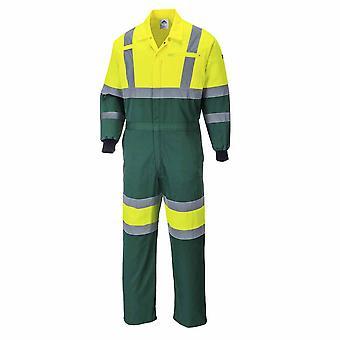 Portwest-X HI-VIS bezpečnostné pracovné odevy Coverall Boilersuit