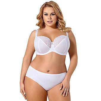 Gorsenia K367 naisten Alice valkoinen ei-pehmustettu Underwired Plus koko Full Cup Bra