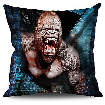Monkey Monkey Animal Linen Cushion 30cm x 30cm | Wellcoda