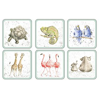 Wrendale Zoological Set of 6 Coasters
