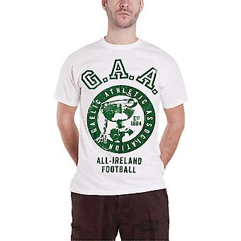 Official Mens GAA T Shirt All Ireland Gaelic Football Sport Logo New White