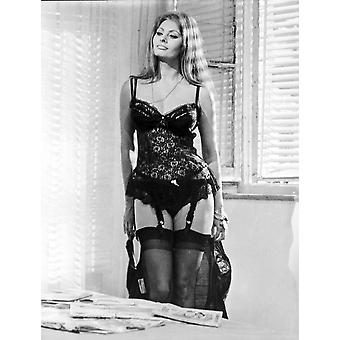 Sophia Loren wearing a Lingerie Photo Print