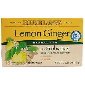 Bigelow Lemon Ginger Herbal Tea Plus Probiotics Tea