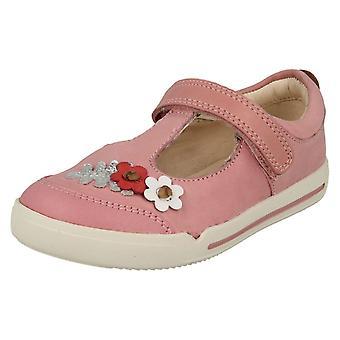 Tytöt Clarks rento T-Bar kengät Mini Blossom