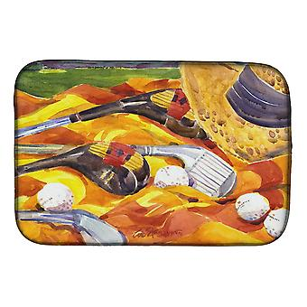 Carolines Treasures  6063DDM Golf Clubs Golfer Dish Drying Mat