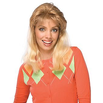 Super Mom 1970s 1980s Disco Retro Blonde Women Costume Wig