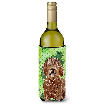 Shamrocks Labradoodle Wine Bottle Beverge Insulator Hugger