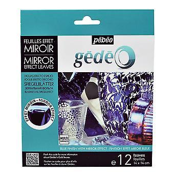 Pebeo Gedeo Mirror Effect Leaves (Blue)