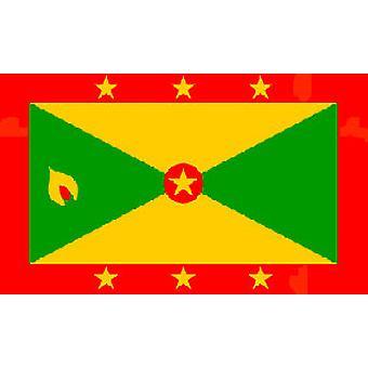Grenadan lippu 5 jalkaa x 3 ft jossa ripustamista varten