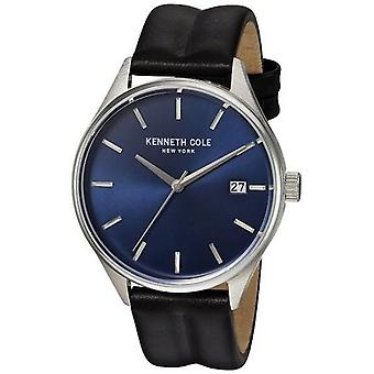Kenneth Cole New York men's wrist watch analog quartz leather 10030836