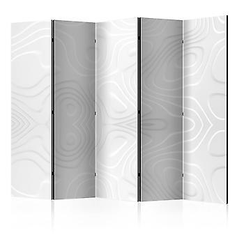 Room Divider - Room divider - White waves II