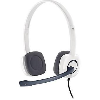 Logitech H150 PC headset 3.5 mm jack Corded, Stereo On-ear White