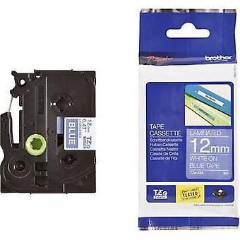 Étiquetage ruban Brother TZe, couleur de ruban TZe-535 TZ: police bleue couleur: blanc 12 mm 8 m