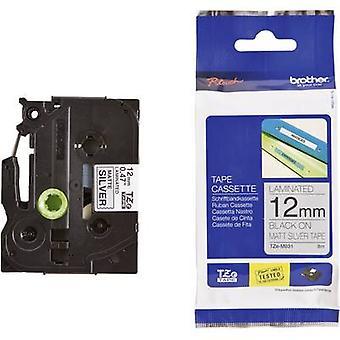 Labelling tape (metallic) Brother TZe, TZ TZe-M931 Tape colour: Silver (matt) Font colour:Black 12 mm 8 m