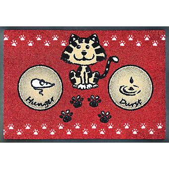 wash + dry dish mat cat meal red 40 x 60 cm for the cat Bowl