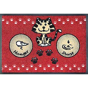 wash+dry waschbare Napfunterlage Katzenmahlzeit rot 40 x 60 cm