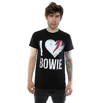 David Bowie masculino eu adoro camiseta Bowie