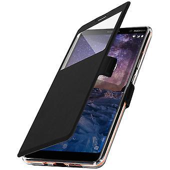 Flip case med fönster för Nokia 7 Plus av Colorfone - svart