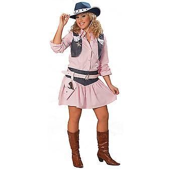 Cowgirl rosa Kostüm Bluse mit Westenflügel Westernkostüm Damen