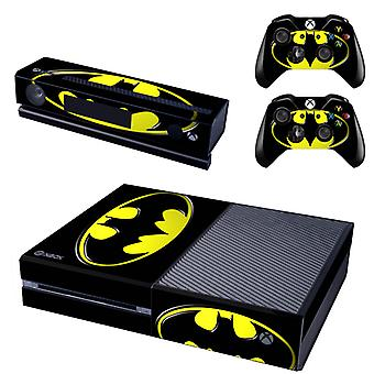 REYTID Console Skin / Sticker + 2 x Controller Decals & Kinect Wrap Compatible with Microsoft Xbox One - Full Set - Batman