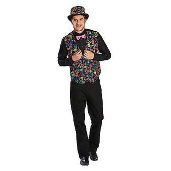 Freaky dandy vest kleur vest kleurrijke dandy kostuum kostuum voor mannen