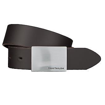 TOM TAILOR Gürtel Ledergürtel Herrengürtel 3,5 cm breit Braun 2510