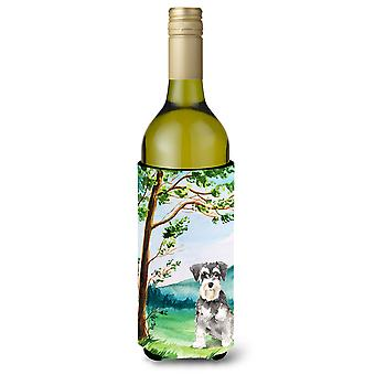 Under the Tree Schnauzer #2 Wine Bottle Beverage Insulator Hugger