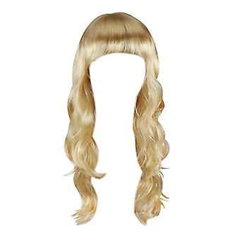 TRIXES Blonde Wig 20-lenge bølgete hår kostyme Party Cosplay Fancy kjole