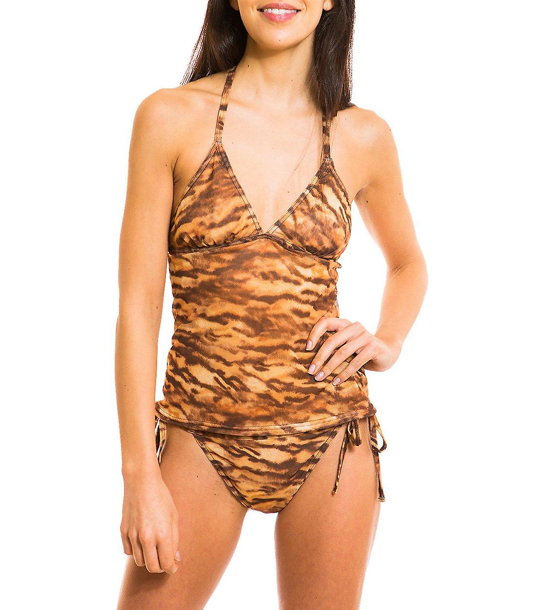 Kiniki Sara Tan Through Tankini Top Womens Swimwear