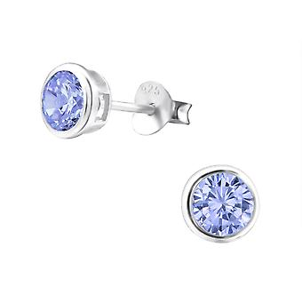 Round - 925 Sterling Silver Classic Ear Studs - W15123x