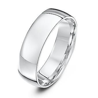 Anneaux de mariage étoile platine lumière Cour forme 6mm bague de mariage