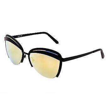 Bertha Aubree polarizada óculos de sol - preto/amarelo