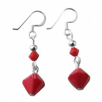 Celebrity Red Coral cristaux Swarovski Boucles d'oreilles