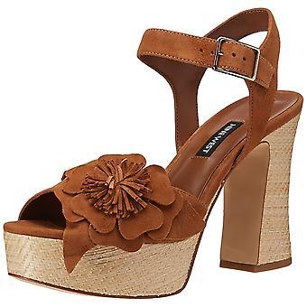 Nine West Womens Winflower Leather Open Toe Casual Platform Sandals