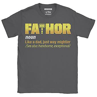 Mens fa-thor like dad just way mightier t shirt father dad superhero day funny