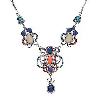 Dames kleurrijke kristallen Azteekse stijl juweel verklaring Swarovski kristallen kraag ketting