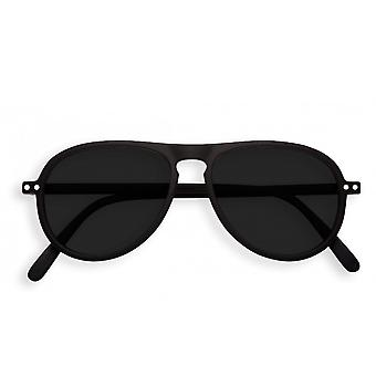 IZIPIZI #i Black Aviator Sunglasses