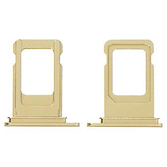 SIM Card Holder Apple iPhone XR Ersatz Nano SIM Card Holder-Gold