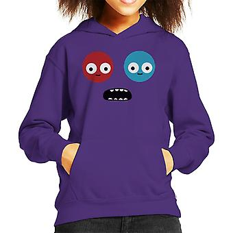 Trover Saves The Universe Face Kid's Hooded Sweatshirt