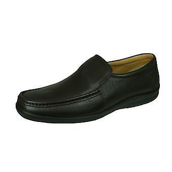 Sledgers Carlton Loafer Mens Slip on Leather Shoes - Brown