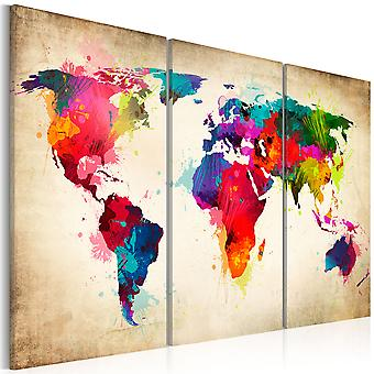 Artgeist Canvas Print Rainbow Continents (Decoration , Pictures and frames , Canvases)